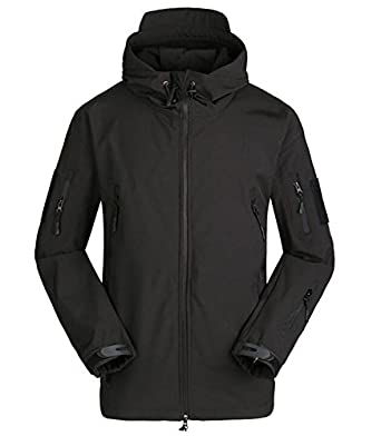 Amazon.com: ESDY Men's Waterproof Military Softshell Jacket ...