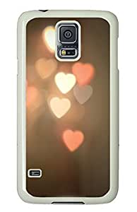 Samsung Galaxy S5 Heart shaped lights PC Custom Samsung Galaxy S5 Case Cover White
