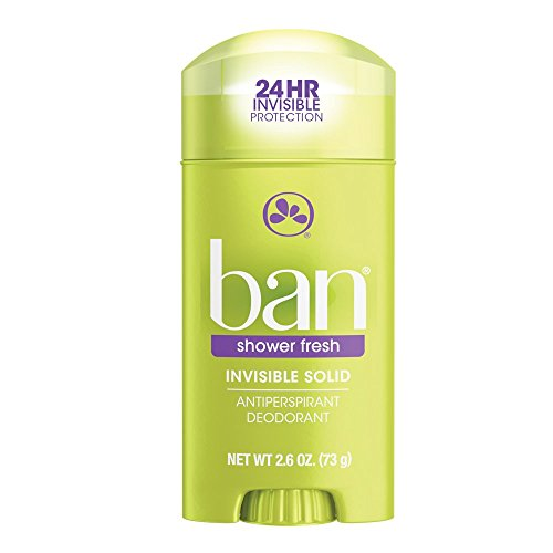 Shower Fresh Anti Perspirant (Ban Antiperspirant Deodorant, Invisible Solid, Shower Fresh, 2.6-Ounce (Pack of 4))
