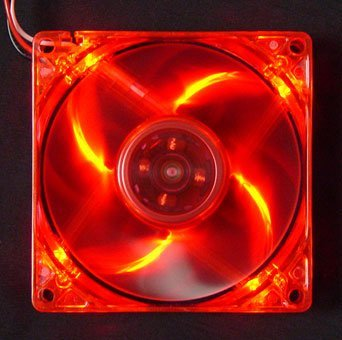 Logisys Computer LT400RD 80mm LED Case Fan (Red) (Computer Fan 3 Case Inch)