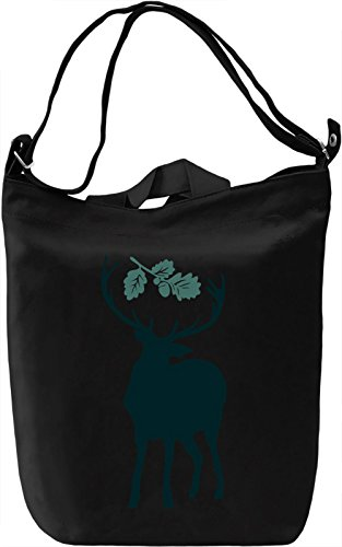 Deer with leaves Borsa Giornaliera Canvas Canvas Day Bag| 100% Premium Cotton Canvas| DTG Printing|
