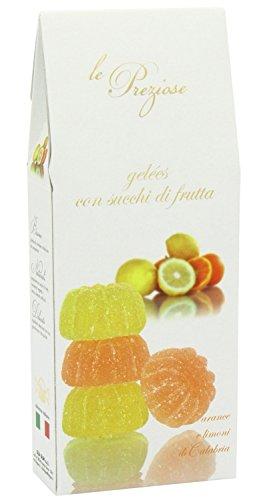 Le Preziose Italian Fruit Jelly Sweets with Fruit Juice 7.9oz (Orange & Lemon)