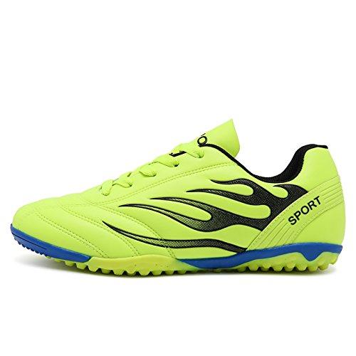 XING Lin Fußball Schuhe Broken Nail Fußball Schuhe Youth flach Anti-Rutsch Leder Schuhe Training Schuhe grün
