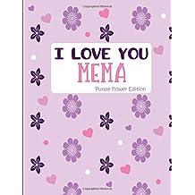 I Love You Mema Purple Flower Edition: Blank Lined Journal