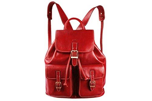 Katana - Bolso mochila de Piel para mujer Rojo - rojo