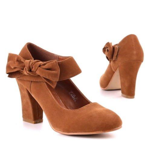 sexy chaussures escarpins camel 38