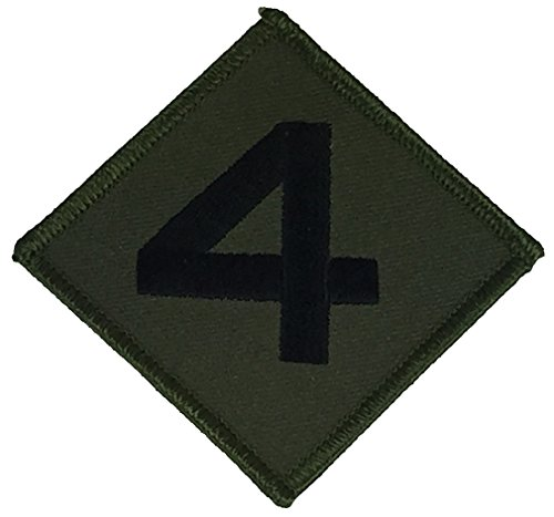 USMC 4TH MARINE DIVISION UNIT Patch - OD Green/Black - Veteran Owned Business. (Patch 4th Marines)