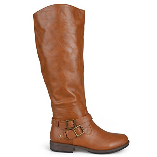 Chestnut Brown Boots - Brinley Co Women's Molly Knee High Boot, chestnut, 7.5 Regular US