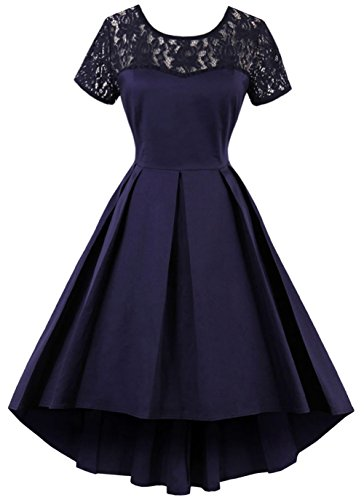 50s style bridesmaid dresses navy - 9