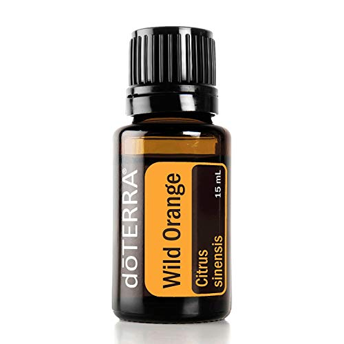 doTERRA Wild Orange Essential Oil - Powerful Cleanser and Purifying Agent, Supports Healthy Immune Function, Uplifts Mind and Body; For Diffusion, Internal, or Topical Use - 15 ml (Orange Essential Oil)