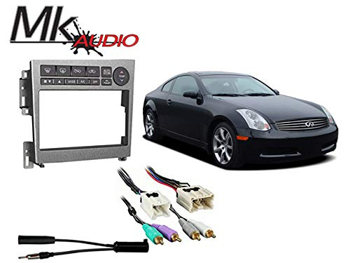 MK Audio Fits Infiniti G35 Coupe 2005-2007 DDIN Stereo Harness Radio Install Dash Kit