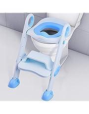 Siège de toilette NEARPOW Potty Training avec échelle de tabouret, réglable pour bébé, préparateur de toilette pour tout-petit, coussin rembourré doux, solide, antidérapant