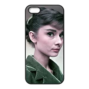 Diy Case for iPhone 5,5S ,Audrey Hepburn Customized case Fashion Style UN932588