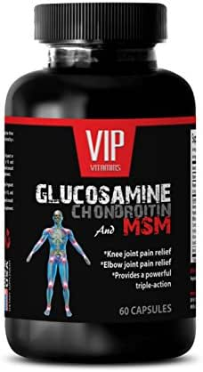 Joint Support - GLUCOSAMINE and MSM Joint Support Complex - with Vitamin C and Collagen - Pain Relief - glucosamine and chondroitin Supplement - 1 Bottle (60 Capsules)
