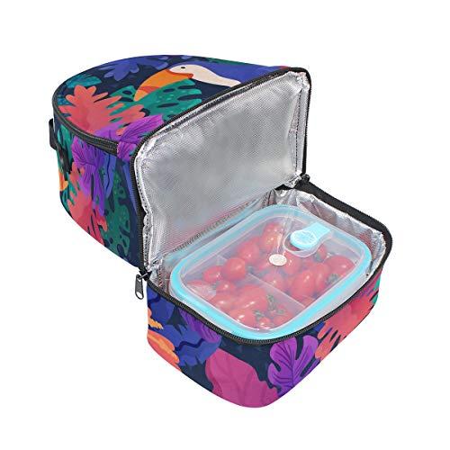pincnic escuela la Bolsa de correa pájaros almuerzo con de para el tucán diseño térmica ajustable para Alinlo de CndZxTn