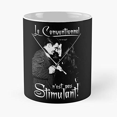 The Addams Family Gomez Morticia - 11 Oz Coffee Mugs Unique Ceramic Novelty Cup, The Best Gift For Halloween. -