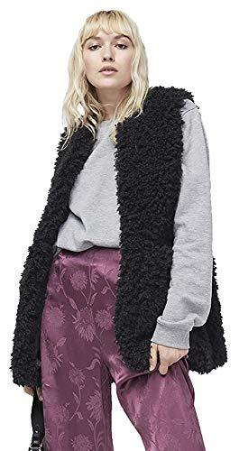 UGG Women's Farrah Faux Fur Vest Black -