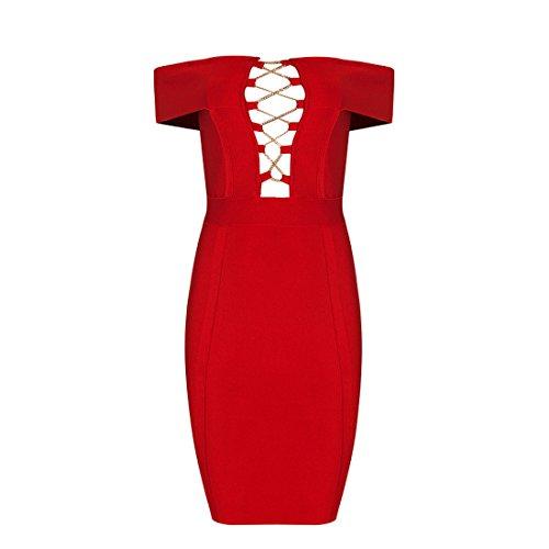 Rot Damen Kleid 36 HLBCBG rot Rot xERUnp0