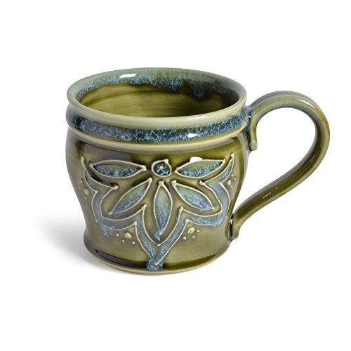 AshenWren Ceramics 10-oz. Mug, Emerald (Elegant 10 Ounce Ceramic)