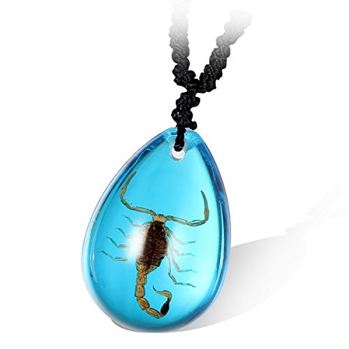 Flongo Scorpion Waterdrop Necklace Adjustable