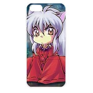 InuYasha Manga Anime Comic Apple iPhone 5 TPU Soft Black or White case (White) by icecream design