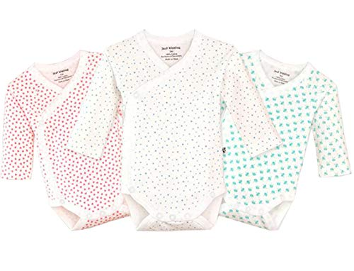 Baby Boys Long Sleeved Cardigan - Infant Baby Boys Girls Long Sleeves Onesies Cotton Side Snap Bodysuit Fall Winter Cloths Outfit (3-Pack, 0-3 Months)