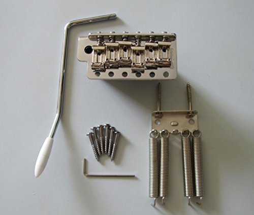 Wilkinson 6 Hole Vintage Strat Tremolo Trem Bridge w/ Steel Block Wvc-sb Chrome (Kahler Tremolo Arm)