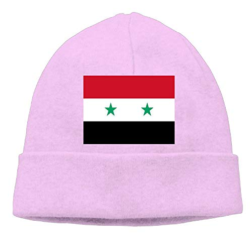 CHAN03 Syrian Flag Beanies Hats Unisex Winter Sports Caps