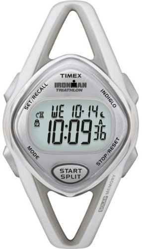 Timex Women's T5K026 Ironman Sleek 50-Lap Gray Resin Sport Watch