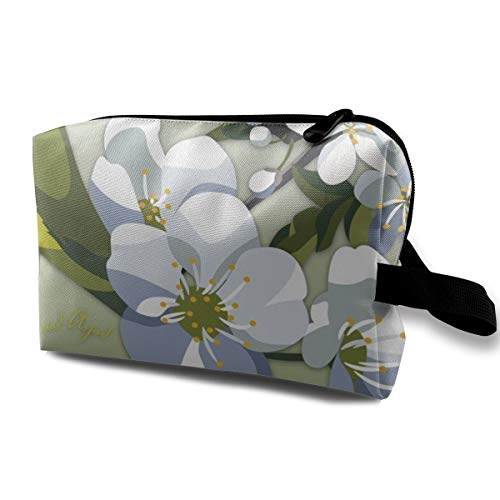 Kiwi Party Deluxe Kit - Blossom Cherry_6277 Makeup Bag With Adjustable Dividers Mirror Womens Girls Light Gray