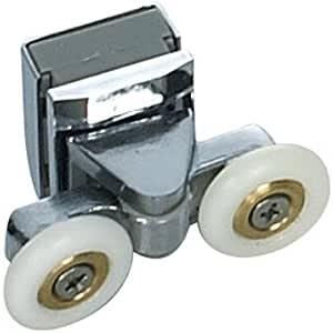 4 Ruedas para mampara de Ducha de aleación de Zinc, 23 mm: Amazon.es: Bricolaje y herramientas