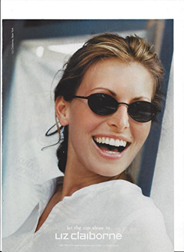 MAGAZINE PAPER ADVERTISEMENT With Niki Taylor For Liz Claiborne - Liz Sunglasses