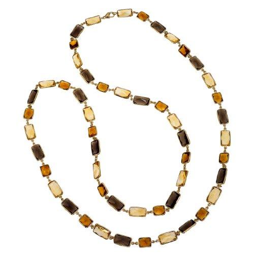 AX Jewelry Allia 18K Vermeil, Smoky Quartz & Citrine 38' Long Necklace ()