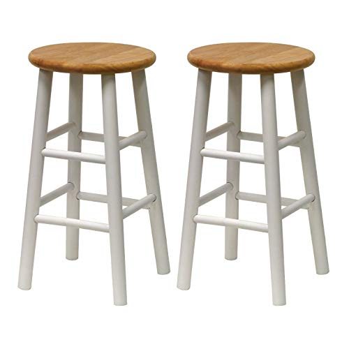 Winsome 53784 Tabby Stool, White (Bar Stools Wooden Breakfast)