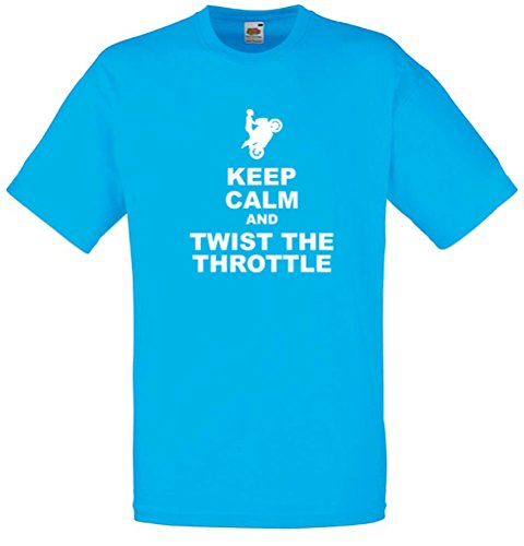 Keep Calm And Twist The Throttle, Mens Printed T-Shirt