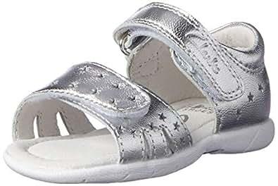 Clarks Girls' Shimmery Fashion Sandals, Silver, 28 EU (10 AU)