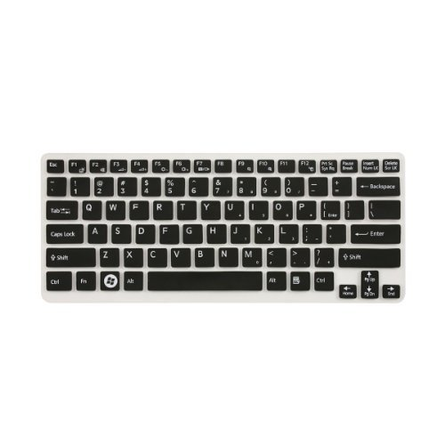 Translucent Keyboard Protector Skin Cover For Sony Vaio CA/SA/SB/SC/SD Series/ 14 inch E Series E141 E14A SVE141 SVE14A 14P/ 13.3 inch S Series S131 S13A SVS131 SVS13A 13P/ 13.3 inch T Series T13 SVT13 Black US Layout