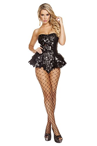 Roma Costume Women's 1 Piece Dark Angel, Black, Large