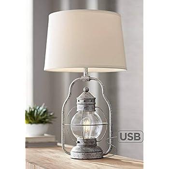 Fisher Nautical Table Lamp With Nightlight Led Edison Bulb