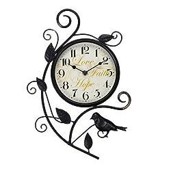 Better Homes and Gardens 15.25 Bird Wall Clock