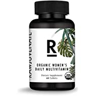 Rawjuvenate Organic Raw Multivitamin for Women- Highest Digestibility Absorption, 60Count