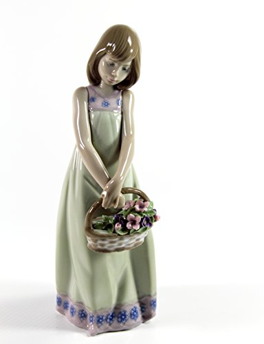 """Lladro """"Floral Treasures"""" Collectible Figurine #05605 Retired Glazed Finish"""
