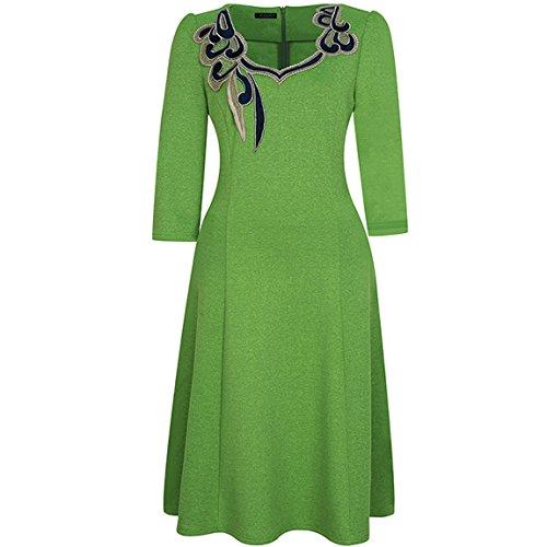 Verde Cerimonia da Donna KAXIDY Eleganti Vestiti Line A Corti Vestiti Abito fXwv4q