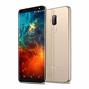 Blackview S8 SONY IMX258 Four Cameras 18:9 Smartphone 4G RAM 64G ROM 5.7 Inch MT6750T Octa Core 1440720 4G LTE Fingerprint OTG Mobile Phone (Gold)