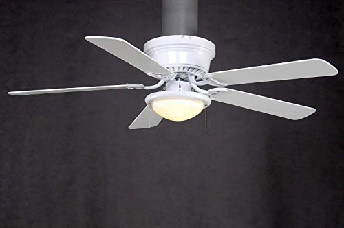 Hampton Bay Hugger 52 in White Ceiling Fan With Light Amazoncom
