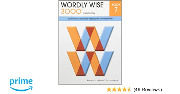 Amazon wordly wise 3000 book 7 systematic academic vocalulary amazon wordly wise 3000 book 7 systematic academic vocalulary development 9780838876077 kenneth hodkinson sandra adams books fandeluxe Gallery