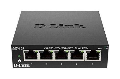 D Link Unmanaged Metal Desktop Switch