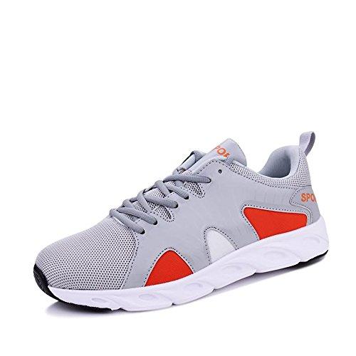 Color da shoes tacco Scarpe casual outdoor bianco Nero ginnastica da Xiaojuan per EU con 44 piatto Gray Red uomo Dimensione sneaker corsa 60qw7d