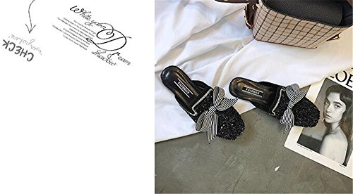2 Women Mules Slides Fashion Black pit4tk Low Ladies Casual Footwear Shoes Shoes Slippers Summer Sandals Heels SawxZn