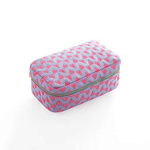 LULAN Kosmetik Tasche niedliche Mädchen Herzen kleine tragbare Pocket große Kapazität kompakte multi-purpose Kosmetik, 86 * 46 * 35 mm, Kosmetik Paket von Red